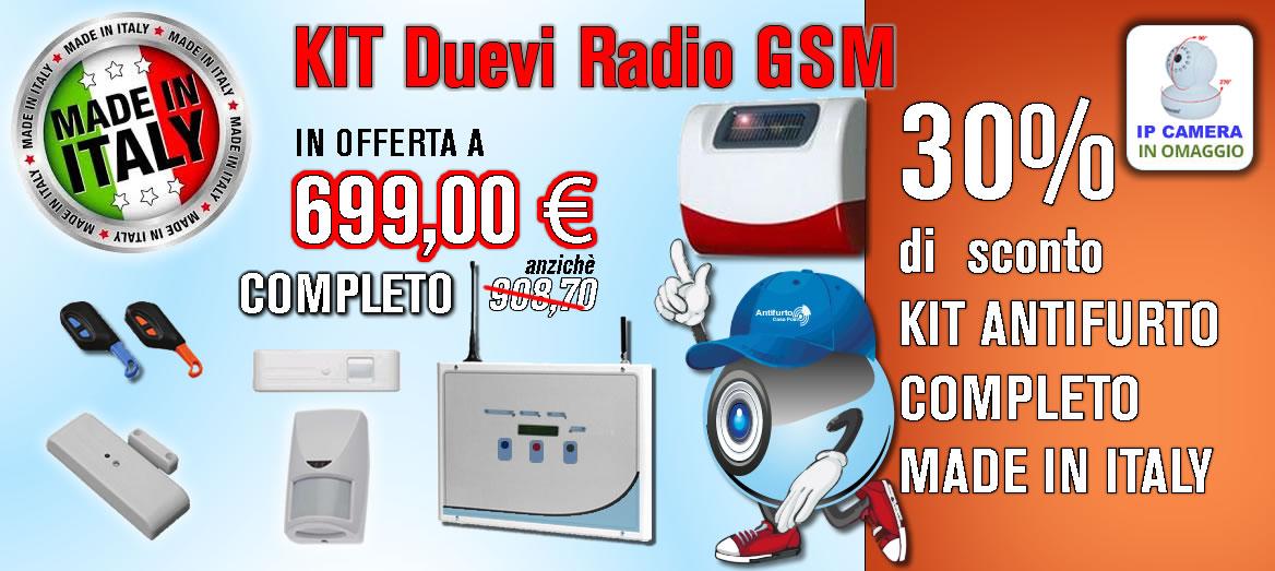 Kit antifurto duevi via radio gsm made in italy - Antifurto casa costi ...